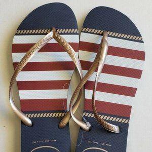 Havaianas Slim Women's 11/12 Nautical Flip Flops